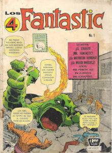 Los Cuatro Fantásticos Historieta # 01 Marvel Comics